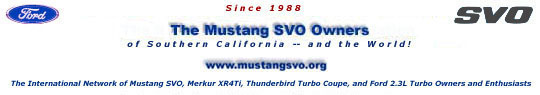 The Mustang SVO Forums